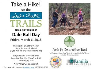 Take a Hike on the Dale Ball Trails Fri Mar 6 2015